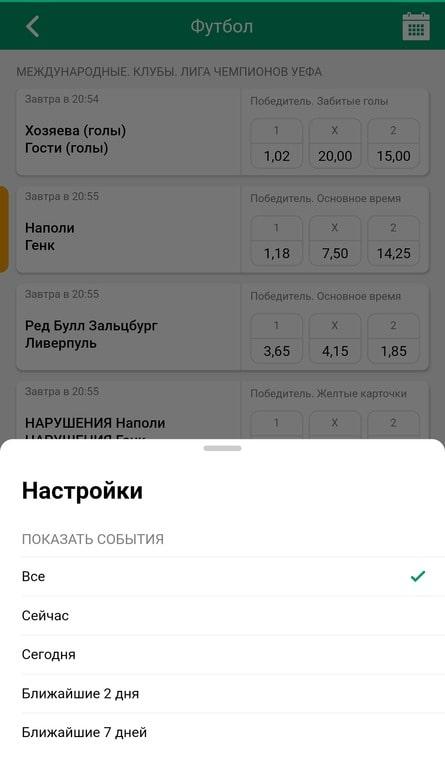 Обзор и инструкция по установке мобильного приложения БК «Лига Ставок» для Android